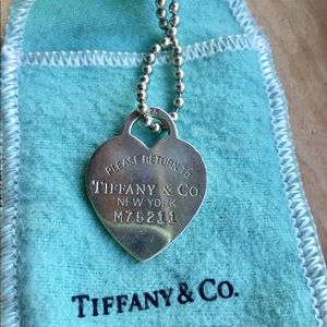 Return to Tiffany heart tag pendant necklace